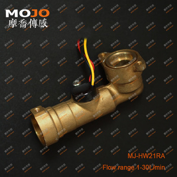 MJ-HZ21RA Brass material Elbow type Hall pulse flow sensor