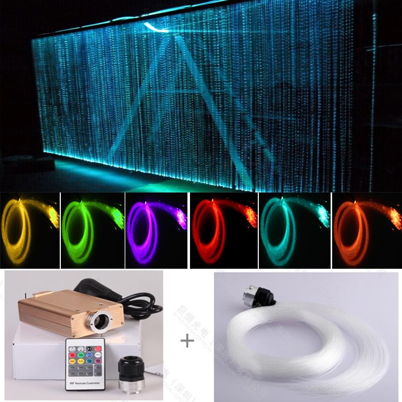 Led Engine Plastic Fiber Optic Light Curtain For Wedding Party ...