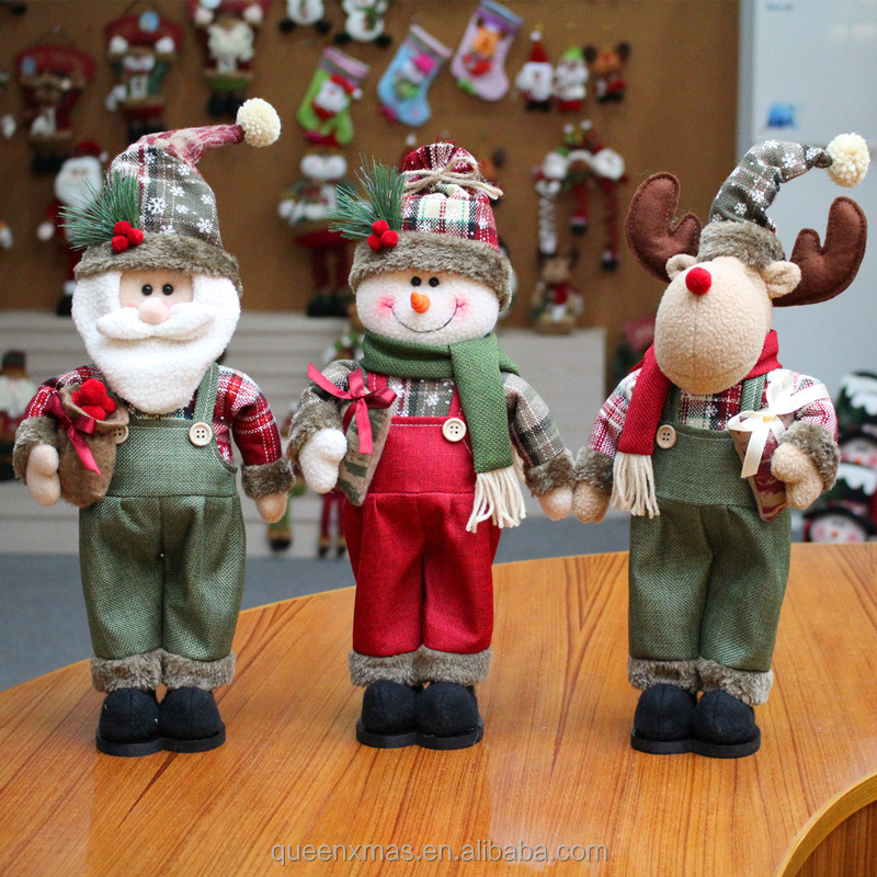santa snowman and moose family party gift christmas decorations