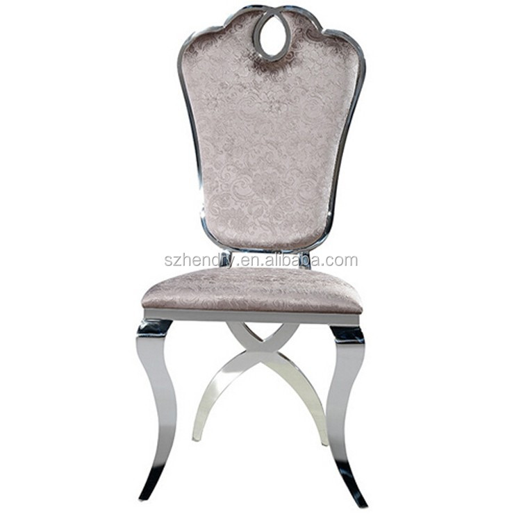 high quality stainless steel back cushion hotel furniture chairs