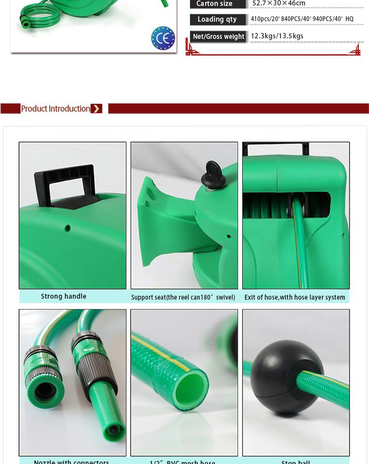 Garden Hose Reel Auto Lock And Slow Retractable 30m PVC Water Hose Reel