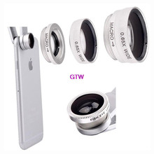 3 in 1 fish eye macro wide angle mobile phone lenses camera fit universal clip for iphone 5 6 for samsung s5 for lg for sony