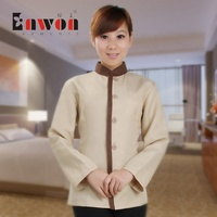 Hotel room service workwear poly cotton hostess Cleaning staff uniform