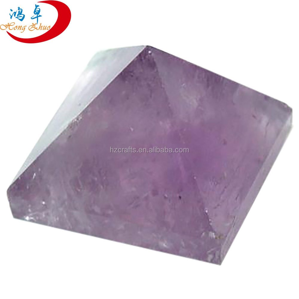 Amethyst Orgone Energy Pyramid With Crystal Point Wholesale Orgonite