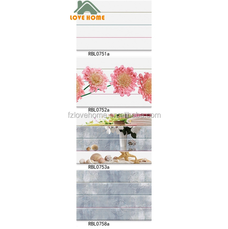 Foshan Ceramic Factory 3d HD Inkjet Bathroom Ceramic Wall Tile Designs And Price