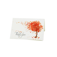 Maple Leaf Tree Die Cut Music Note Card Christmas Paper Greeting Cards