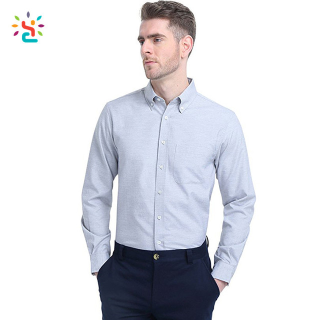 Personalize White Dress Shirt No Logo Mens Slim Fit Shirts Business On Down With Stand Up Collar