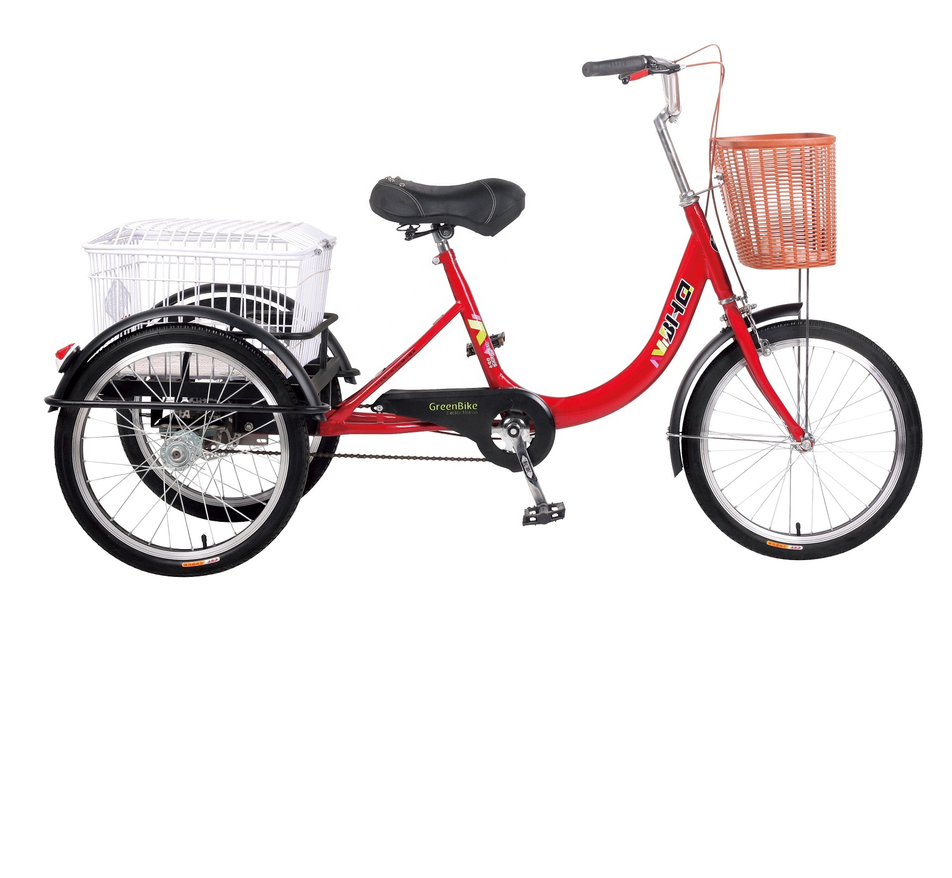 highly quality man power trike pedal cargo tricycle manual 3 wheels <strong>cycle</strong> for adults