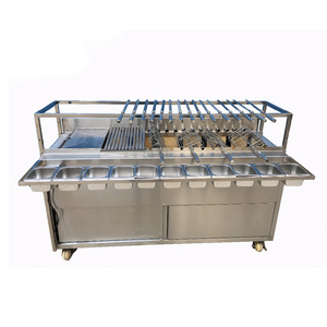 2019 Commercial Souvlaki Charcoal Rotisserie Brazilian Rotisserie bbq grill