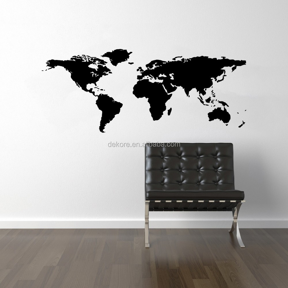 Nieuwe diy wereld reis map verwijderbare vinyl kunst aan de muur ...