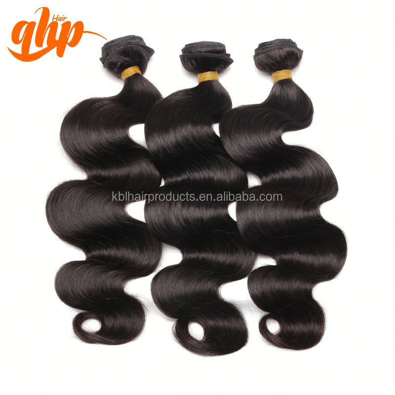 QHP HAIR 2015 new products good shining 6a+ body wave indian 100% virgin hair