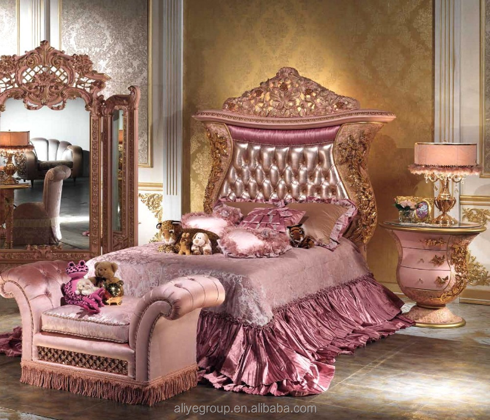 Luxury pink color with gold children girl bedroom Purple and gold bedrooms