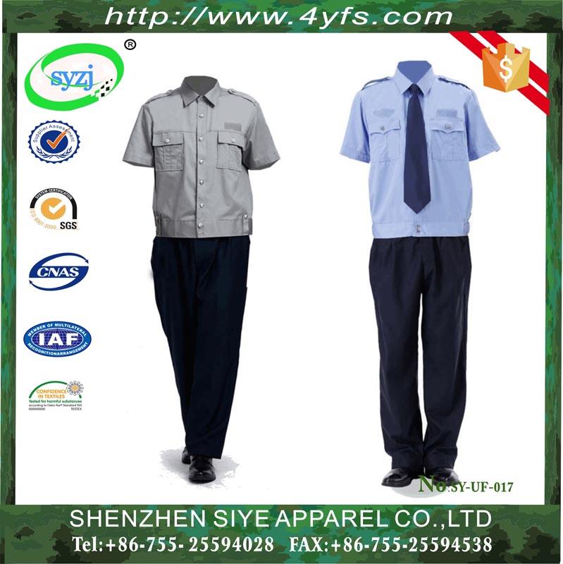 Design Security Guard Uniform Shirt And Pants /oem Security Guard ...