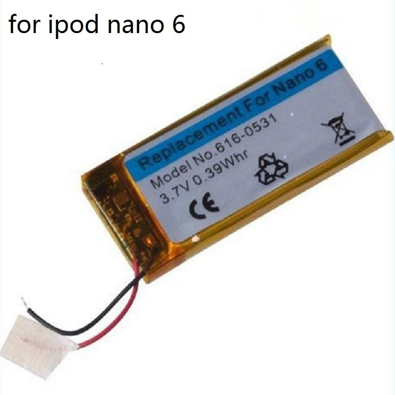 3.7V Li-ion Battery Replacement 330mAh for iPod Nano 6 6th Gen 8GB 16GB