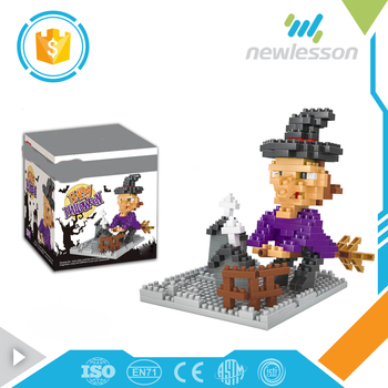 Halloween party sale witch mini blocks electronic building blocks toys for children