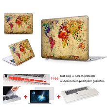 Colorful World Map Laptop Accessories Hard Cases Cover For Macbook Pro 13 Case Pro 13 15 Retina Laptop Skin Protector Shell