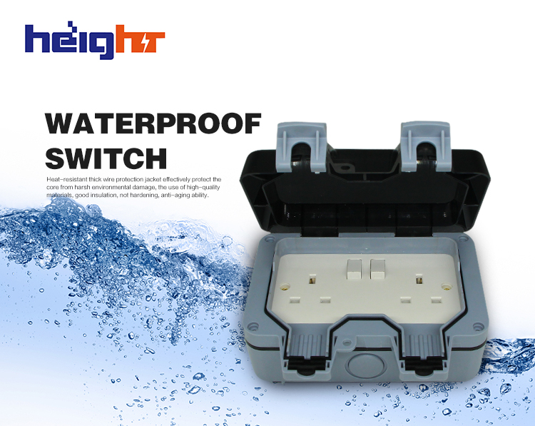 Ip66 Outside Use Waterproof Outdoor 13a Storm Switched Single Socket