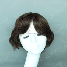 Factory Price 6inch Full Handtied Human Hair Men Hair Pieces Topper human hair toupee