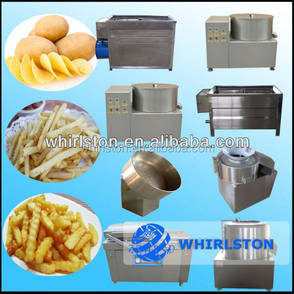 frozen french fry processing line