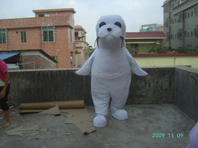 New design!!! white sea lion mascot costume for adult size,animal plush mascot costume for party