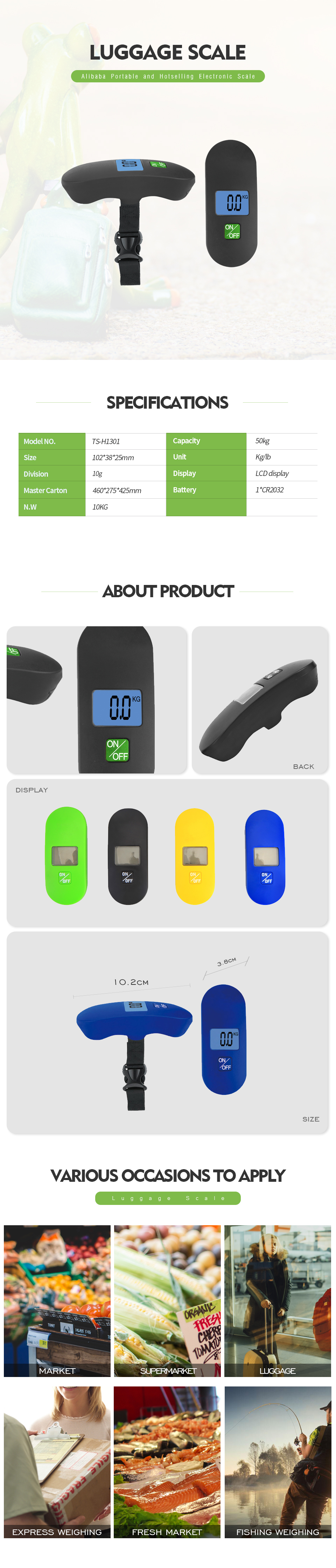 2020 Best style electronic portable luggage scale for customer