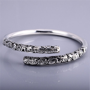 Women And Men Custom Stamped Bangles Crossed Bracelet