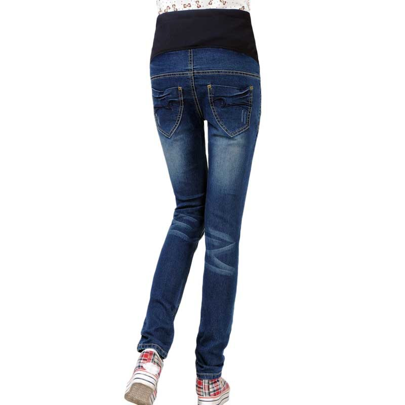Беременных одежда прорезиненная тесьма на поясе для беременных джинсы брюки для беременность деним брюки для беременных брюки брюки ropa mujer