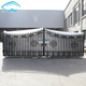 New design house iron pipe driveway gate grill, Garden metal tubular fencing