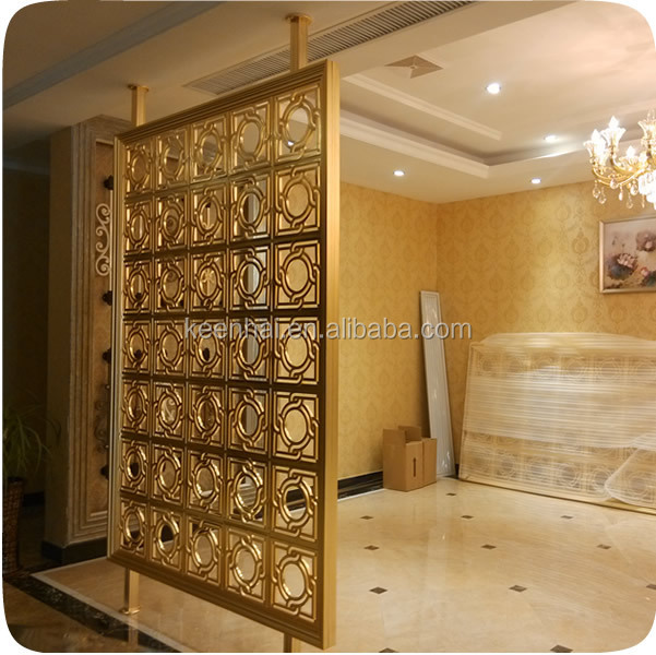 2015 New Design Decorative Room Divider Aluminum Partition