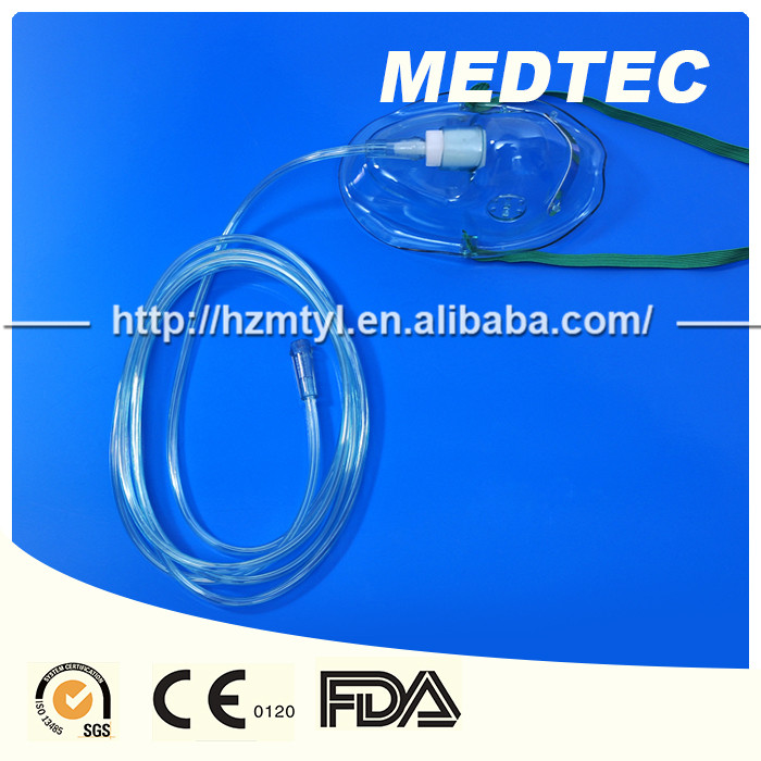 Disposable oxygen mask prices cheaper CE FDA100% from hangzhou medtec