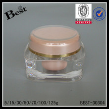 best sellers 50g pink square acrylic jar personal skin care cream acrylic cosmetic jar