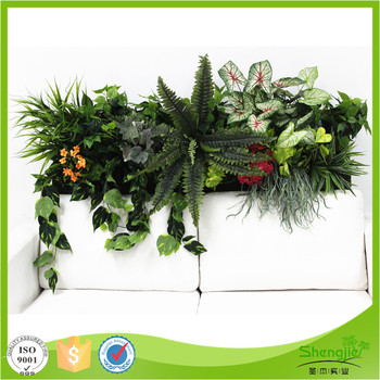 superb quality foliage wall fake indoor wall hanging plants wall for