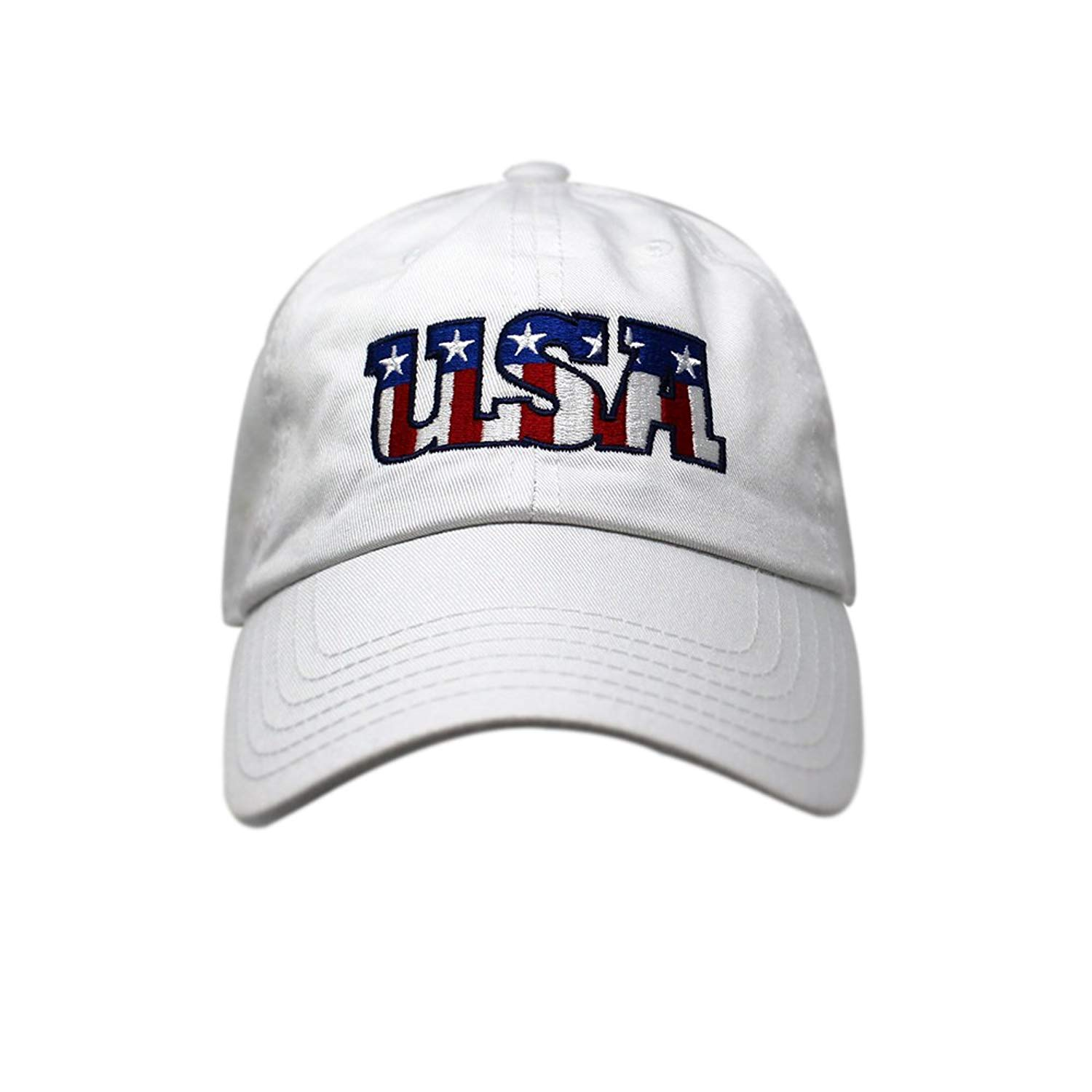 c7ae0bc1 Get Quotations · USA Dad Hat Cotton Baseball Cap Polo Style Low Profile  United States Embroidered