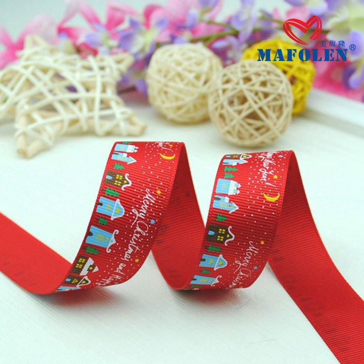 Unique Wholesale Price Ink Printing Ribbon Embroidery Pictures For Gift Packaging