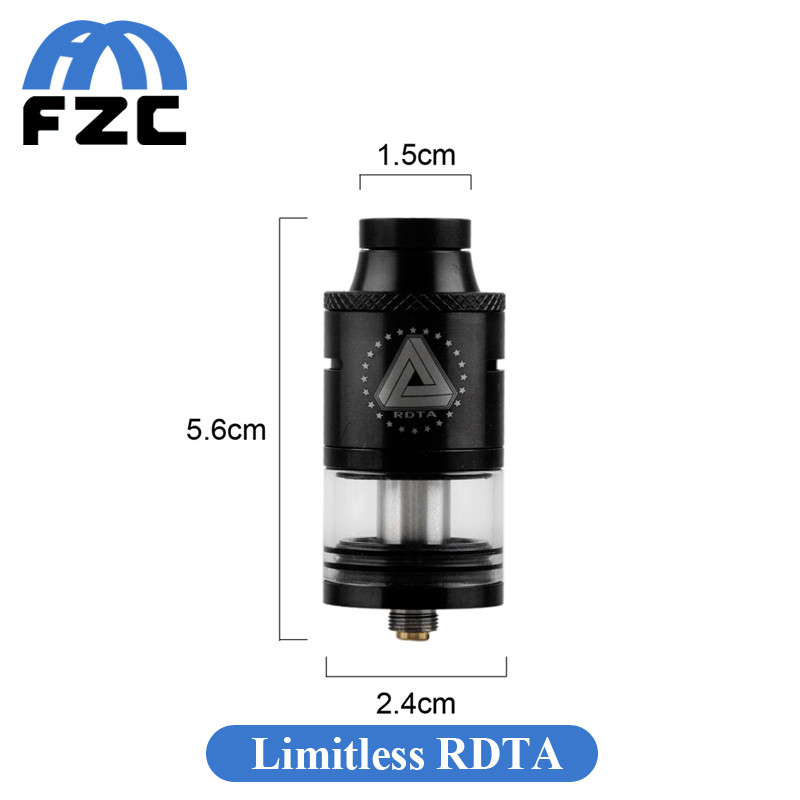 100% Genuine Ijoy Limitless Rdta 4ml Vape Tank With Bigger Than ...
