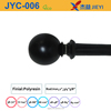 2016 Home decor window accessory,hot sale metal curtain rod with antique black ball polyresin finial,classic finish