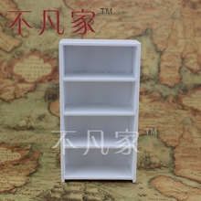 1 12 scale miniature furniture well made wooden elegant White Showcase
