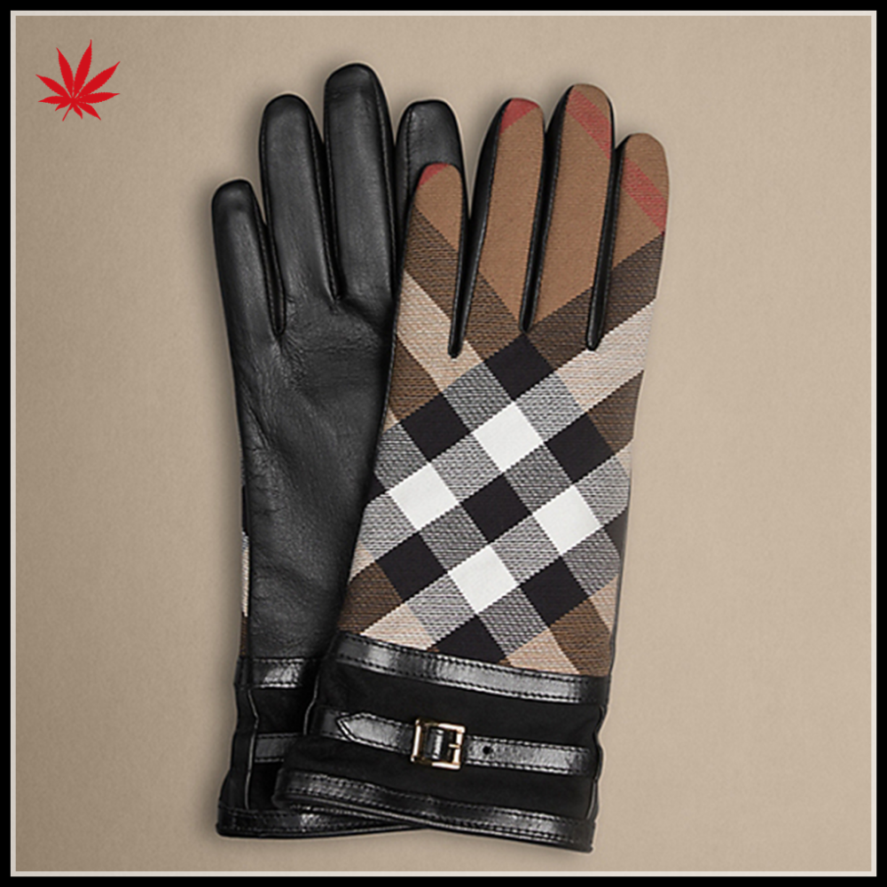whosale winter gloves and belt leather women gloves