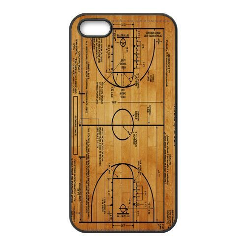New Basketball Court Diagram Cover Case for Apple iPhone 4 and 4s Cases i phone 4 and 4S