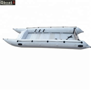 China Manufacturers Factory 15ft Inflatable Catamaran Boat For Sale