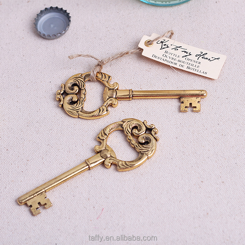 wholesale vintage wedding bomboniere supplies decoration guest souvenirs keepsake wedding favor key beer opener bottle opener