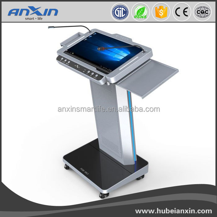 ANXIN 23.8inch Fashion digital Education smart podium for teaching classroom / conference room/Centralized control hall