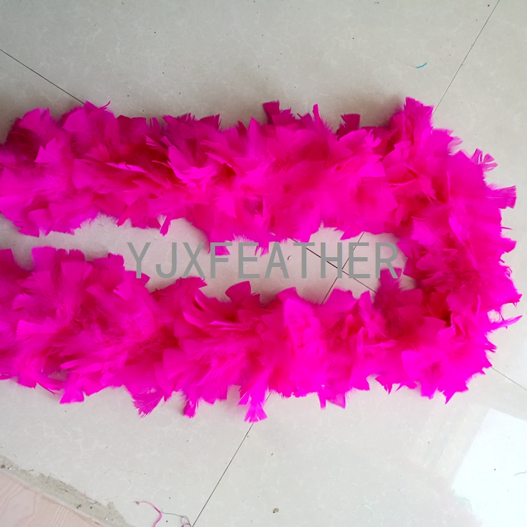 cheap turkey flat feather boa for decoration