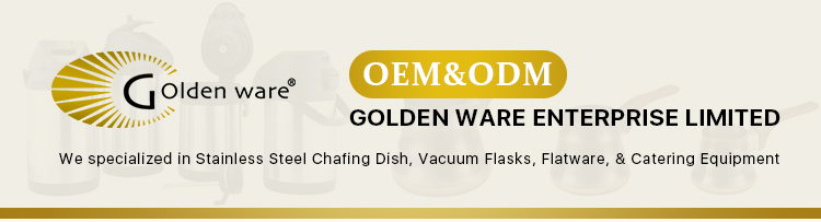 Golden Ware hotel restaurant supplies 18/10 stainless steel buffet chaffing dish food warmer with glass dish