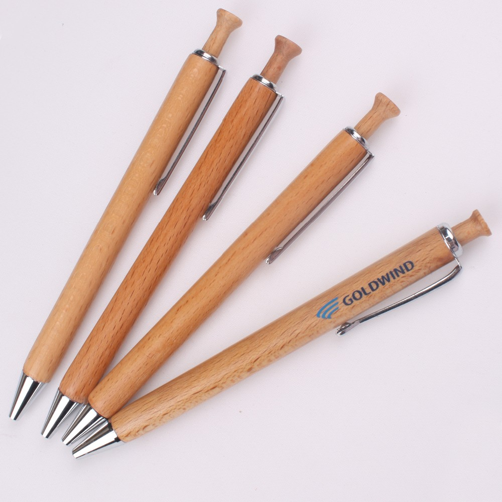 Handmade high quality wooden pen for business gift promotional cheap wood ball pen with logo