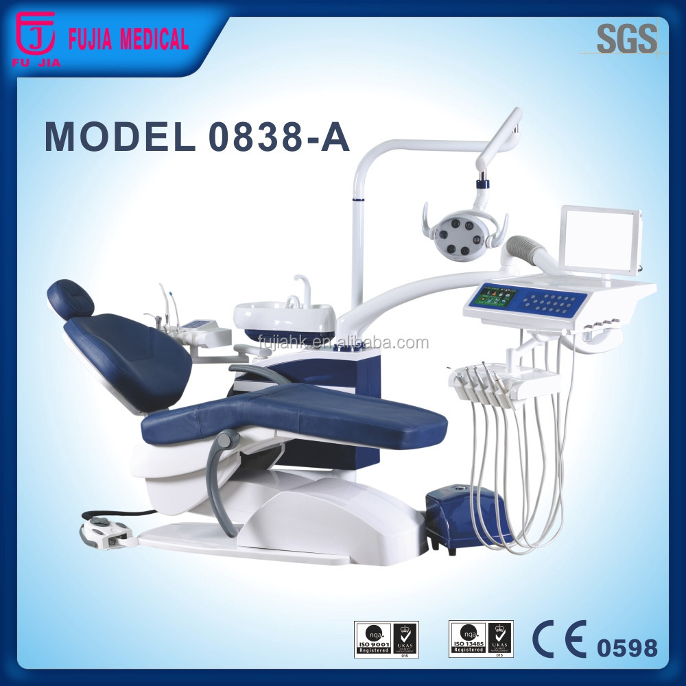 Top 50 Hot Sell Model 0838A Hydraulic dental chair unit with dental instrument trays dental surgery equipment