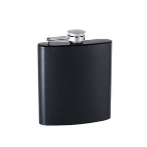 matte black stainless steel wine flask hip flask custom logo whisky flask