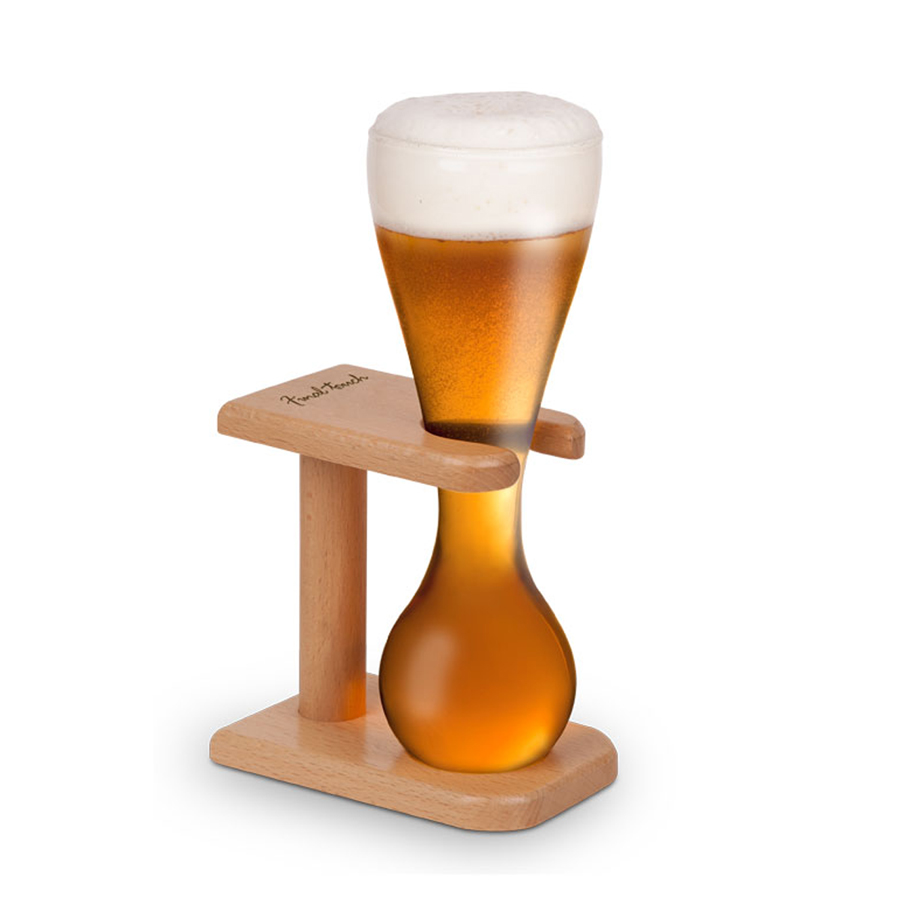 beer photo wooden rack on mug glass a empty alamy stock