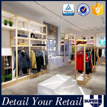 Customized Menswear Shop Interior Design Boutique Shop Display ...
