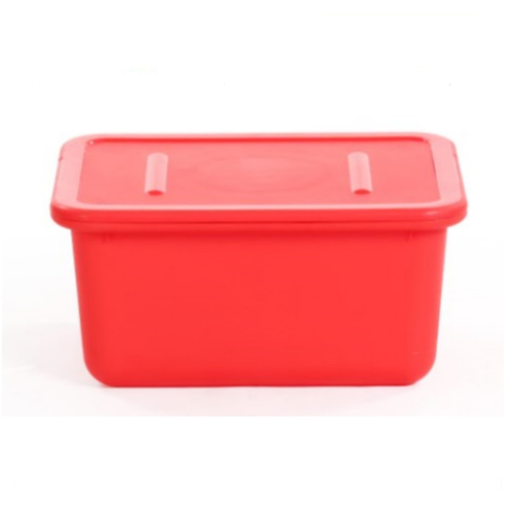 Classical pp material free sample red 24L durable plastic file storage box